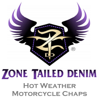 Zone Tailed Denim - Denim Motorcycle Chaps
